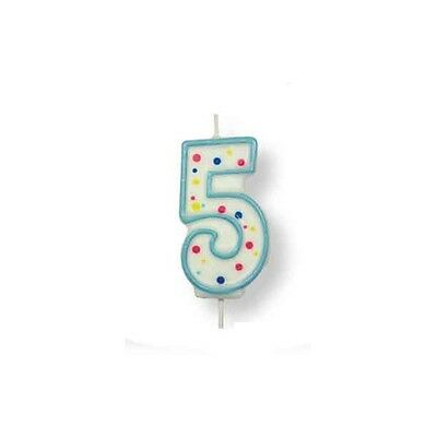 PME Large Blue Number 5 Candle (2.5')