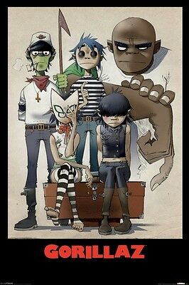 GORILLAZ ~ ALL HERE 24x36 MUSIC POSTER Jaime Hewlett NEW/ROLLED!