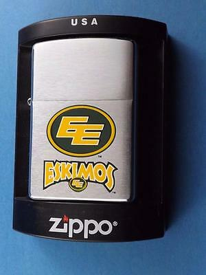 Zippo Edmonton Eskimos Cfl Canada Football Team Logo Lighter Retired 2002