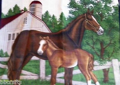 New Pair (2) 14  X 14 Horse Animal Theme Complete Pillows - Great Gift!