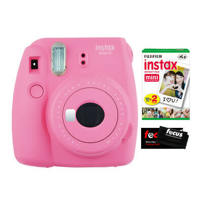 Fujifilm Instax Mini 9 Camera (Flamingo Pink) w/ Instax Mini Film 2 Pack