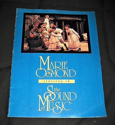 Vintage 1997 Marie Osmond The Sound of Music Broadway Theater Program