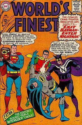 WORLD'S FINEST COMICS #155 VG/F, Superman, Batman, stains, DC Comics 1966
