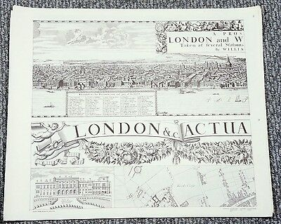 Facsimile of 1682 LARGE William Morgan Map of LONDON ENGLAND Wall Size
