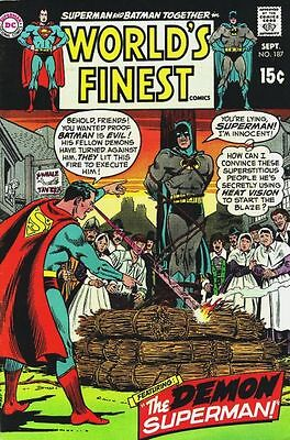 WORLD'S FINEST COMICS #187 F, Superman, Batman, DC Comics 1969