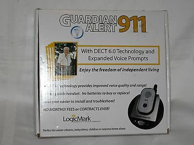 Logicmark Guardian Alert 911 Panic Phone System 30511 No Fees Or Contracts