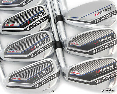 2017 Cobra King F7 One Length Irons 5-Pw & Gw Steel Regular Flex - New #d5348