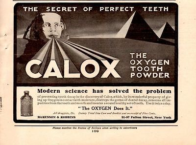 1908 Calox Tooth Powder Ad-The Sphinx