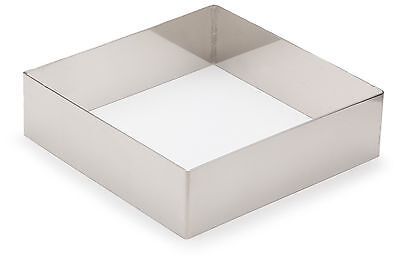 Lacor-68441-ST. STEEL SQUARE PASTRY MOULD 14X14 CMS.