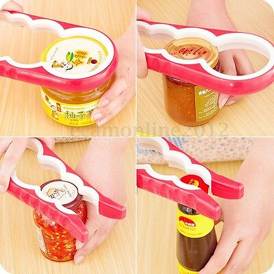 4 in 1 Multi-Purpose Handheld Glass Lid Jar Bottle Can Opener Kitchen Twist Tool