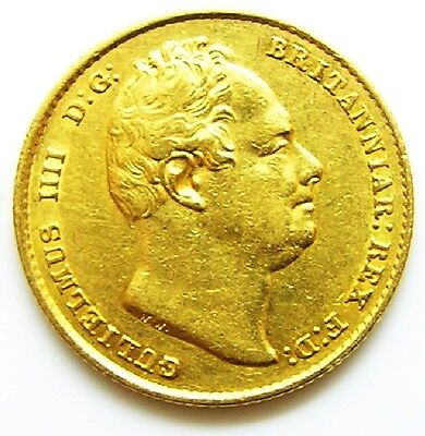 Nice Grade Gold Sovereign of King William IV minted in 1832 with Shield Back