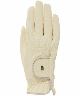 Womens Roeckl Chester Horse Riding Gloves Super Roeck Grip SIZE 7 Beige