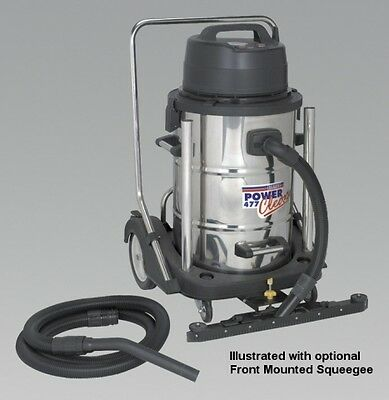 Sealey Industrial Wet & Dry Vacuum Cleaner 77ltr Stainless Drum 2400W/230V Sw...