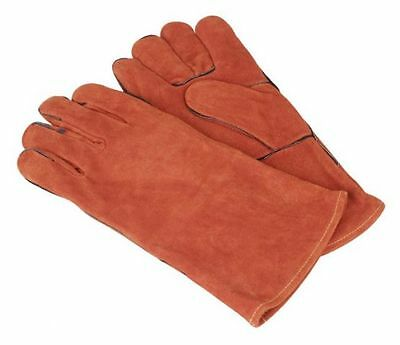 Sealey Leather Welding Gauntlets Lined Pair SSP141