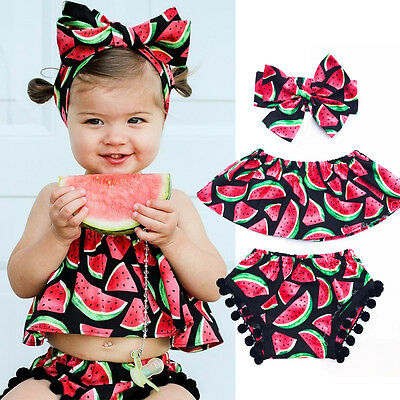 Summer Toddler Baby Girls Bodysuit Kids Romper Jumpsuit Outfits Sunsuit Clothes
