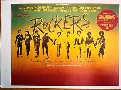 ROCKERS movie  (Island Records) LARGE magazine POSTER size :16x11 inches