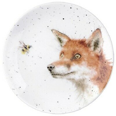 """Royal Worcester Wrendale Country Set 6.5"""" plate fox & bee"""