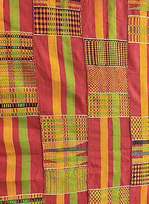 Kente Handwoven Cloth Ghana Old African Art