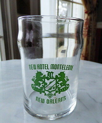 Vintage NEW HOTEL MONTELEONE New Orleans Room Drinking Glass