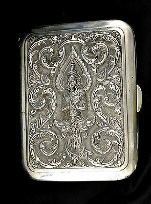 Antique Silver Card / Cigarette Case Siamese Thailand sterling
