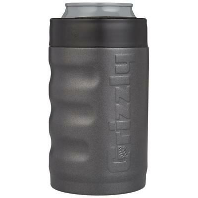 Grizzly Grip Can - Textured Charcoal - 12oz Can Koozie, Insulated Can Cooler