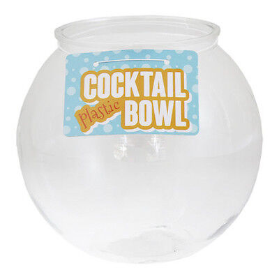 "Plastic Cocktail Fish Bowl 6"" Fishbowl Drinking Games Party Globe Punch Glasses"