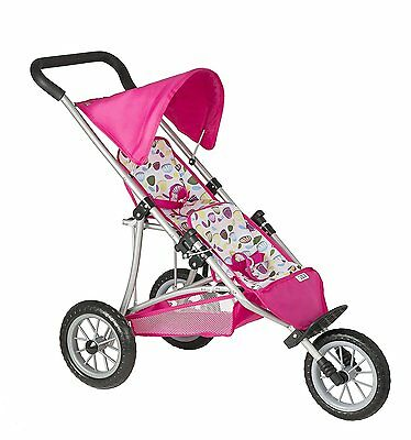 Mamas and Papas Double Decker Twin Dolls Pushchair ( Pink Petal Fabric ) .