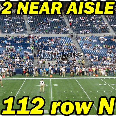 2 NEAR AISLE: Indianapolis Colts @ Seattle Seahawks NFL 10/01 112rowN