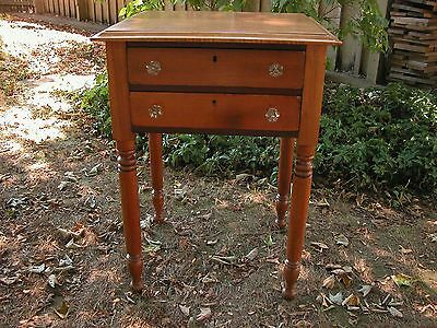 PERIOD 2 DRAWER STAND  with  TIGER MAPLE  TOP (REPLACEMENT) HEARTH & HOME