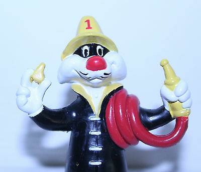 """Fire Fighter Sylvester Cat"" Figure PVC Warner Bros. Looney Tunes"
