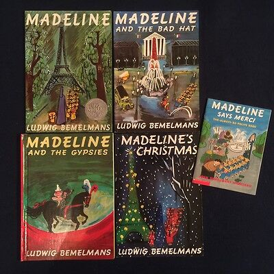 Lot of 5 Children's Picture Books by Ludwig Bemelmans: Madeline Series