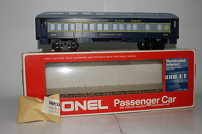 Lionel O Scale #6-9516 Illuminated B&o Passenger Car Pullman, Excellent, Boxed