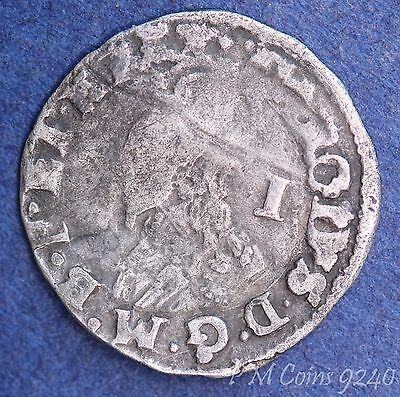 Charles I penny 1d 1625-1679, 0.52g coin *[9240]