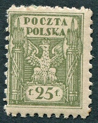 POLAND 1919 25f olive SG109 mint MH FG Northern Poland Issues a #W25
