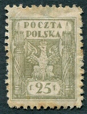 POLAND 1919 25f olive SG109 mint MH NG Northern Poland Issues b #W25
