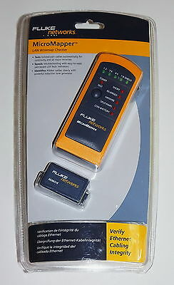 Fluke Networks Micromapper Lan Wiremap Checker Cable Tester Mt-8200-49A New!