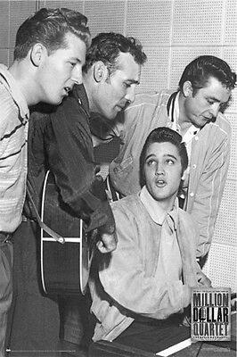 ELVIS PRESLEY ~ w/ JOHNNY CASH JERRY LEE LEWIS CARL PERKINS 24x36 MUSIC POSTER