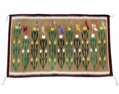 Marilyn Begay, Navajo Pictorial Rug, Handwoven, 43 in x 27.5 in