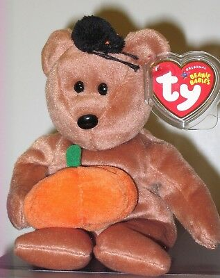 Ty Beanie Baby ~ HOCUS the Halloween Bear ~ MINT with MINT TAGS