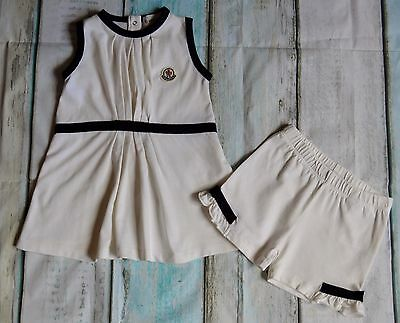 Baby Girls Moncler Designer Clothes Bundle Dress & Shorts 9-12 Months Pristine