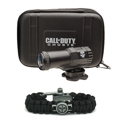 Call of Duty Ghosts 1080p HD Water Resistant Action Camera with Paracord