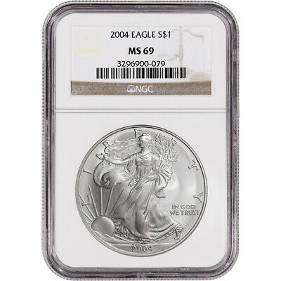 2004 American Silver Eagle - NGC MS69