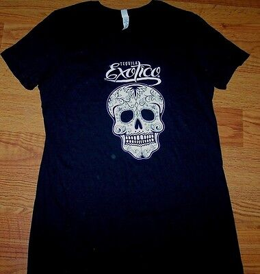 Bella Tequila Exotico Black T-Shirt With Skull Size Extra Large Sz. Xl