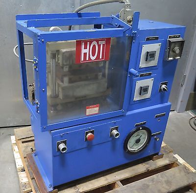 PHI Pasadena Hydraulics Platen Press Heated Platens 8 x 8 Model SGS-21-H-H-5