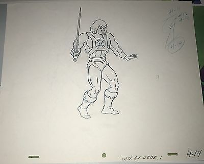 He-Man Original Animation Pencil Production Art Drawing Filmation