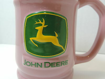 John Deere Rose Colored Stein Coffee Mug