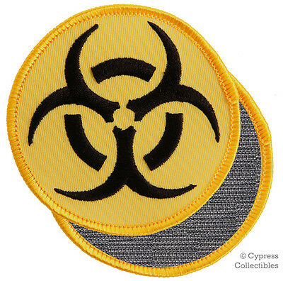 Nuclear Radiation Symbol Embroidered Patch Black Logo W Velcro