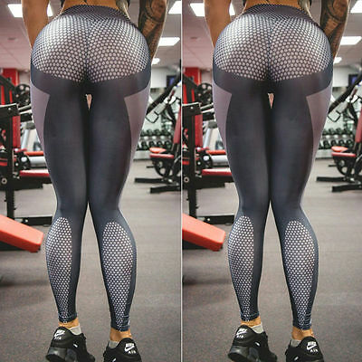 Yoga Women Sports Gym Running Fitness Pants Jumpsuit Athletic Leggings Clothes