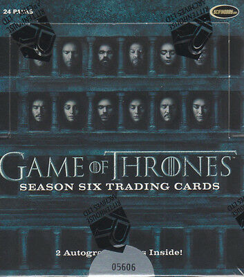 Game of Thrones Season 6 - One (1) Factory Sealed Trading Card Box - Rittenhouse