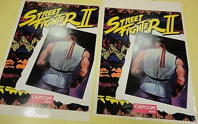 Street Fighter 2 Arcade Game Side art decal set